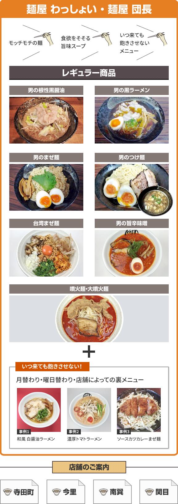 麺屋 わっしょい・麺屋 団長